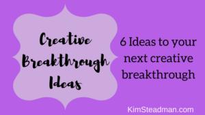 Creative Breakthrough Ideas